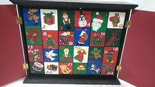 Christmas Advent Holiday Count Down Calendar Box Snowman Trees Drawers
