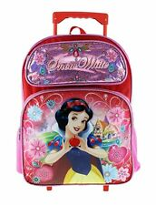 "Disney Princess Snow White 16"" Shine Pink Color Roller/Rolling Backpack"