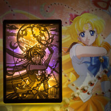 Sailor Venus Aino Minago Table Lamp Shadow Paper Carving Engraving Night Light