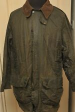 "BARBOUR GAMEFAIR WAX COTTON JACKET GREEN 44"" /112 CM VINTAGE 1990S 3 ROYAL CREST"