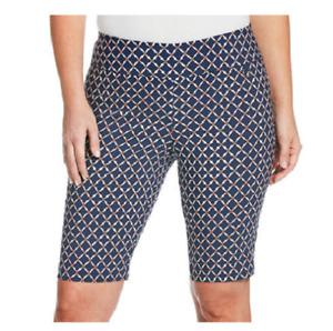 NEW Rafaella Women's Supreme Stretch Pull On Bermuda Shorts Size 16