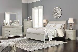 Ashley Furniture Jorstad Queen Upholstered Sleigh 6 Piece Bedroom Set