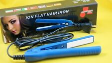 New JOHNSON Ion Travel Size Hair Straigthener Flat Hair Iron-Blue