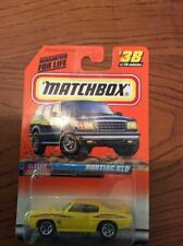 Matchbox Pontiac Diecast Vehicles