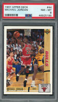 Michael Jordan Chicago Bulls 1991 Upper Deck Basketball Card #44 Graded PSA 8