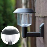 Bright LED Solar Powered Fence Gate Wall Lamp Post Light Outdoor Garden Yard #SA