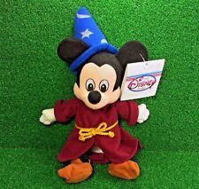 NEW Disney Store FANTASIA Bean Bag SORCERER MICKEY Plush Toy MWMT - Ships FREE