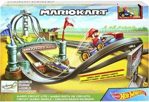 Hot Wheels MarioKart Mario Circuit Lite Track Race Set + Mario kart die cast car