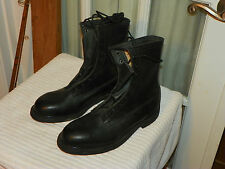 b5fbf74e516 Wolverine Military Motorcycle Boots Black Leather Lace Up Mens 6 R Steel  Toe USA