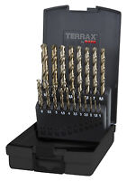 Terrax by RUKO, 19pcs Cobalt Drill Bit Set, HSSE-Co5, 1-10mm increments of 0.5mm