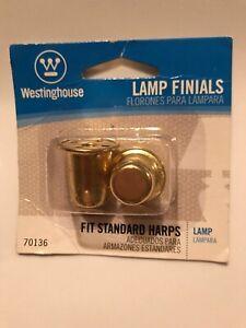 "Westinghouse 7013600 1"" Brass Finish Lamp Finials Fits standard harps"