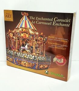 The Enchanted Carousel Wrebbit Puzzle 3D Built Art Collection New Plays Music