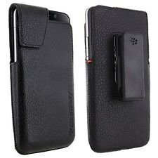 PU Leather Waist Phone Case For Blackberry Z30 Belt Holster Clip Hang Pouch