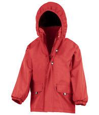 Result Kids School Jacket Hardwearing Waterproof Fleece Lined Coat Boys Girls BN Red 7 to 8