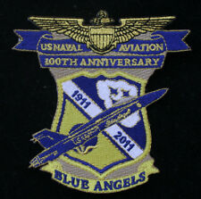 100TH ANNIVERSARY 2011 US NAVY BLUE ANGELS PATCH USS MARINES F18 HORNET BR SL893