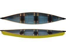 Familienkanu Ontario mit Holzrand Canadier leichtes Kanu zum Superpreis in gelb