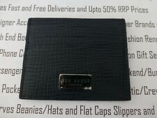 TED BAKER Grained Leather Card Holder Mens PAYMER Navy Card Case Wallet NEW R£30
