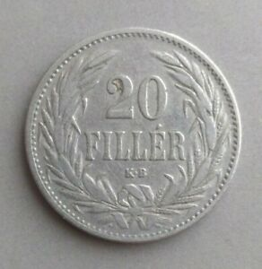 20 filler Hungary 1893, F-VF