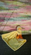 Carter's Yellow Orange Duck Velour I Love You chick Security Blanket rattle baby