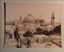 Zangaki brothers 1880 large albumen photograph Jerusalem Holy Sepulcre