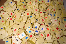 Rummikub Board Game Replacement Tiles Craft Pieces Parts 1997 Pressman