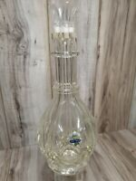 Mid-Century Fait Main 4-Chamber Blown Glass Liquor Decanter & 4 Stoppers~France