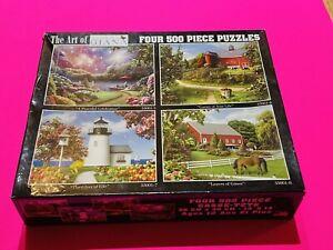 ART OF ALAN GIANA 4 500 Piece Jigsaw Puzzles Lighthouse Farms Fireworks NEW