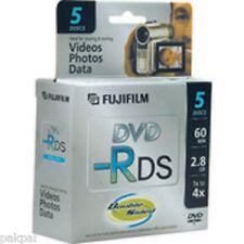 2 5PK FUJI MINI DVD-R DS 2.8GB,4X, IN MINI CASE CAMCORDER DISCS #25302910 SALE