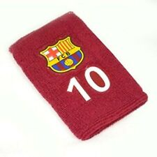 Official Barcelona Football Club Crest Number 10 Sport Sweatbands Wristbands