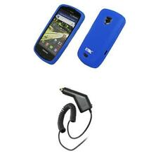for Samsung Droid Charge Blue Gel Case+Car Charger