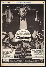SHALIMAR__Original 1978 Cannes Trade AD promo / poster__REX HARRISON__DHARMENDRA