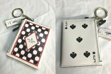 Kate Spade Lucky Draw Deck of Cards Double Zip Key Card Coin Case Wallet