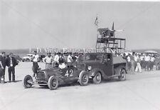 "Vintage Auto Racing, Photo Salt Flats 1950's Black&White Photo ""42"""