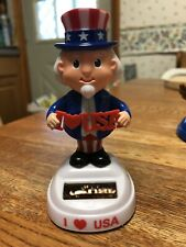 Solar Powered Dancing Toy New 2020- Patriotic 4th July Uncle Sam