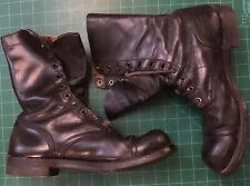 WW 2 Korean War Era US combat Boots Leather Sz 11 R Cap Toe Military Vintage
