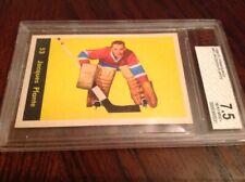 JACQUES PLANTE 1960-61 PARKHURST #53 BVG 7.5 NHL HOCKEY CARD MONTREAL CANADIENS