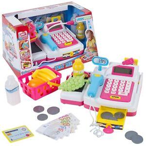 24 Pcs Toy Cash Register Checkout Till Lights & Sounds Working Scanner Shopping