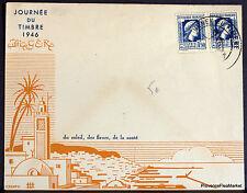ARGELIA 1946 CARTA TRABAJADORES FERROVIARIOS FILATELISTAS SOBRE 165CA147