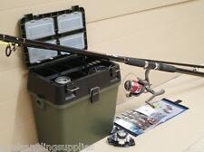 Sea Fishing Beach Kit with Seat & Tackle Box 14ft Charter  Rod Reel Tackle Rigs