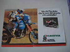 advertising Pubblicità 1985 MOTO CAGIVA ELEFANT 650