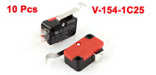 10 Pcs Micro R Hooked Lever Arm Limit Switch SPDT Normally Open/Close V-154-1C25