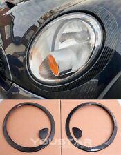 UK STOCK Set CARBON Effect Headlight Trims for MINI Cooper S R56 R57 R55 Clubman