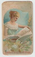 W. Duke Honest Long Cut Tobacco Card Illustrated Songs  Cannot Sing Old Songs