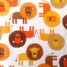 Kaufman Lions Print Winceyette, Brushed Cotton 110cm wide, by the 1/2 metre