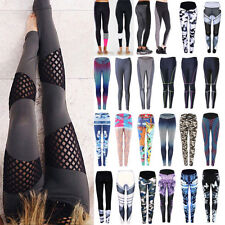 Womens Workout Leggings Yoga Gym Jogging Running Fitness Sports Pants Trousers A