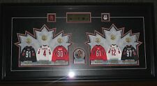 2006 McDonald's Team Canada Hockey Mini-Jerseys in Store Display Frame