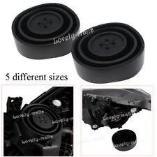 Pair Car Headlight LED HID Flexible Seal Cap Dust Cover 55mm/70mm/80mm/90mm/95mm
