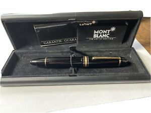 Estate Find Montblanc Meisterstuck No. 149 Ink Fountain Pen 14k Tip With Box
