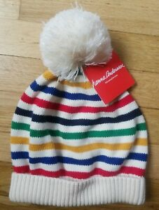 NWT HANNA ANDERSSON STRIPE SWEATER KNIT POM POM HAT X LARGE 12 AND UP TEEN ADULT