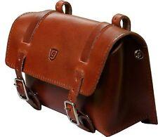Brave Classic Saddle Bag Buffalo Leather Brown Large
